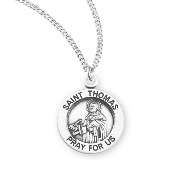 Women's St. Thomas Aquanis Round Medal - Sterling Silver