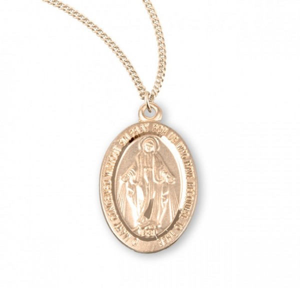 Women's Traditional Oval Miraculous Medal - Gold Plated