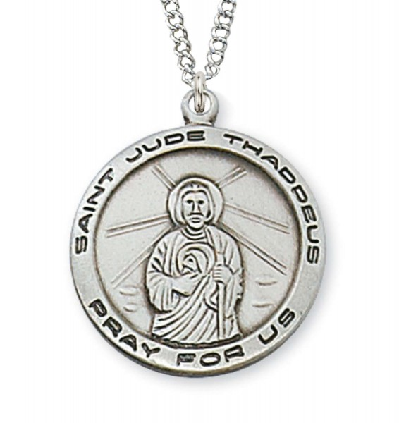 Women's or Teen St. Jude Medal Sterling Silver - Silver