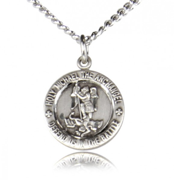 Child or Youth St. Michael Medal Sterling Silver - Silver