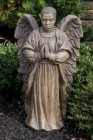 African American Garden Angel Male Statue 25 Inches