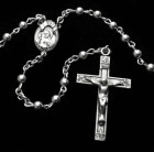 All Sterling Silver Rosary with Round 4mm Beads