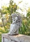 """Angel & Baby Garden Statue - 15""""H"""