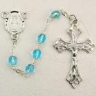 Aqua Aurora Glass Rosary