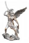 Archangel Uriel Statue, Silver Gold - 9 inches