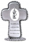 Baby Boy Pewter Standing Cross - 3 1/2 inch