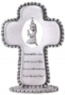Baby Girl Pewter Standing Cross - 3 1/2 inch