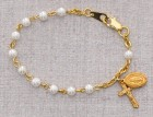 Baby Rosary Bracelet with Pearls [MVM1187]