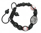 Baseball Bracelet with Saint Sebastian Medal