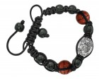 Basketball Bracelet with Saint Sebastian Medal