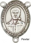 Blessed Pier Giorgio Frassati Rosary Centerpiece Sterling Silver or Pewter