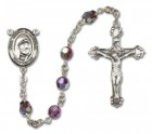 St. Mother Teresa of Calcutta Sterling Silver Heirloom Rosary Fancy Crucifix
