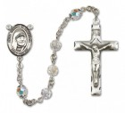 St. Teresa of Calcutta Sterling Silver Heirloom Rosary Squared Crucifix