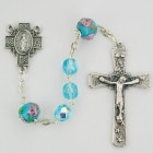 Blue Venetian Glass Rosary