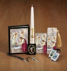 Boys First Communion Deluxe Gift Set with Candle