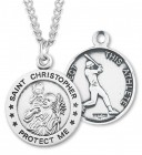 Men's St. Christopher Baseball Medal Sterling Silver