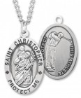 Men's St. Christopher Golf Medal Sterling Silver