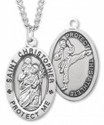 Men's St. Christopher Martial Arts Medal Sterling Silver
