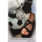 Boy's St. Christopher Soccer Medal 24 Inch Chain Prayer Card