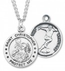 Boy's St. Christopher Soccer Medal Sterling Silver