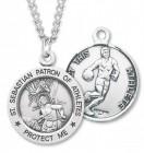 Boy's St. Sebastian Basketball Medal Sterling Silver