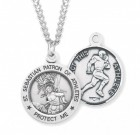 Boy's St. Sebastian Football Medal Sterling Silver