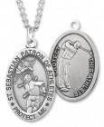 Men's St. Sebastian Golf Medal Sterling Silver