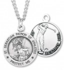 Boy's St. Sebastian Golf Medal Sterling Silver