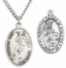 Men's St. Sebastian Lacrosse Medal Sterling Silver