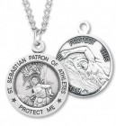 Men's St. Sebastian Swimming Medal Sterling Silver