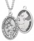 Men's St. Sebastian Tennis Medal Sterling Silver