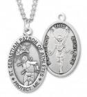 Men's St. Sebastian Track Medal Sterling Silver