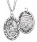 Men's St. Sebastian Wrestling Medal Sterling Silver