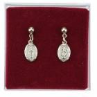 Classic Miraculous Medal Dangle Earrings