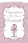 Congratulations on you Baptism Granddaughter Greeting Card