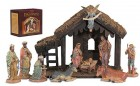 "DiGiovanni Nativity Set with Wood Stable - 6""H Figures"