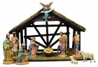 DiGiovanni Nativity Set with Wood Stable - 6