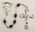 Ecce Homo Black Bead Rosary
