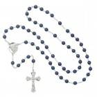 Ecce Homo Blue Metallic Rosary