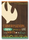 Faith Peace and Love Confirmation Card