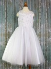 First Communion Dress Lace Floral Bodice