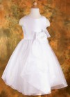 First Communion Dress with Crystal Organza Skirt