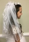 First Communion Floral Wreath with Veil