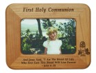 First Communion Maple Wood Photo Frame