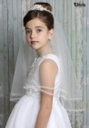 First Communion Tiara with Pearl Clusters and Veil