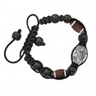 Football Bracelet with Saint Sebastian Medal