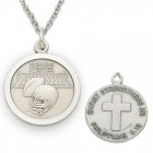 Football Sports Medal 3/4 inch with Chain