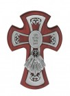Gifts of the Holy Spirit Cherry Stained Cross 6 Inch