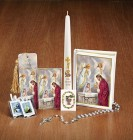 Girls First Communion Deluxe Gift Set with Candle