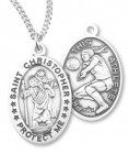 Girl's St. Christopher Volleyball Medal Sterling Silver
